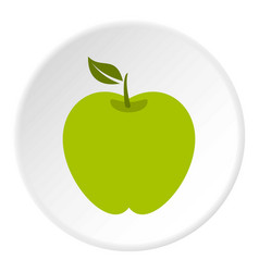 green apple icon circle vector image
