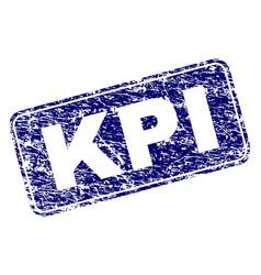 Grunge kpi framed rounded rectangle stamp vector