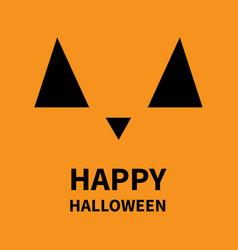 happy halloween pumpkin smiling face emotion big vector image