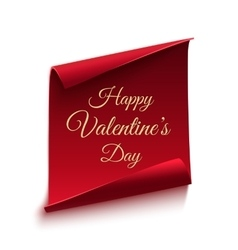Happy Valentines day poster template vector image