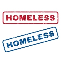 Homeless Rubber Stamps vector