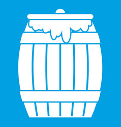 honey keg icon white vector image