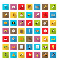 icon set constructionrepair in flat style with vector image