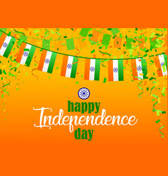indian independence day 4 vector image
