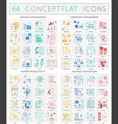 Infographics concept icons of business management vector