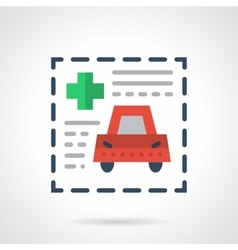 Insurance document flat color icon vector