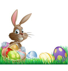 isolated easter footer design vector image