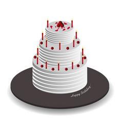 Isometric celebration cake vector