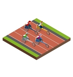 Isometric sports for peoples with disabled vector image