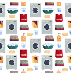 laundry service seamless pattern house cleaning vector image