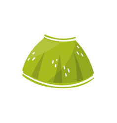 Little green skirt for toddler girl children s vector