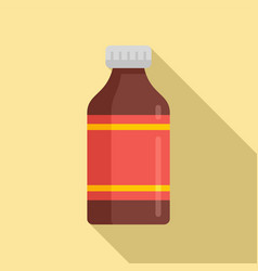 Medicine cough syrup icon flat style vector
