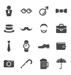 men moustache props item icons participants grow vector image