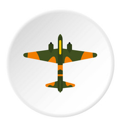 military plane icon circle vector image