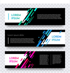 modern web banner color abstract template vector image