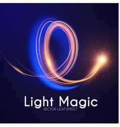 moion light effect lens flare glowing spyral vector image