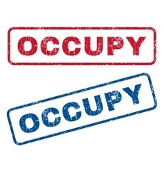 Occupy Rubber Stamps vector