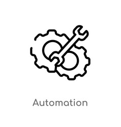 Outline automation icon isolated black simple vector