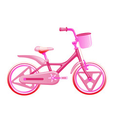 pink children bike wheeled eco transport for kids vector image