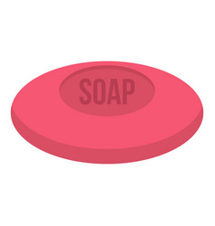 pink soap icon isolated vector image