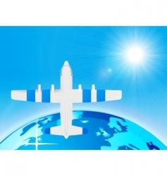 plane illustration vector image