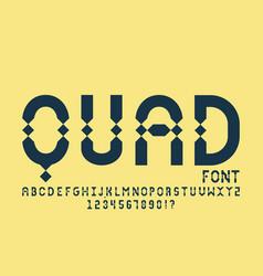 Quad font alphabet vector
