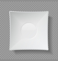 Realistic food plates 3d empty utensil ceramic vector