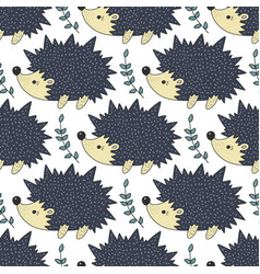 Seamless forest pattern with cute color vector