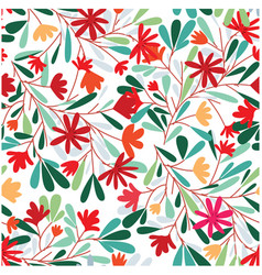seamless pattern of red tropical flower vector image