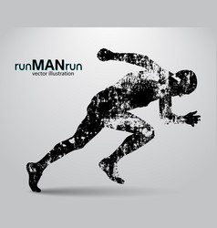 Silhouette of a running man vector