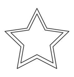 Single star icon vector