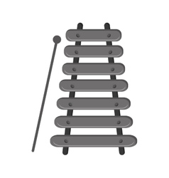single xylophone icon vector image