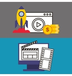 social media marketing icon vector image