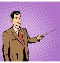 Teacher concept comics style vector image