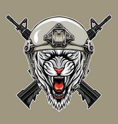 Tiger soldier vector