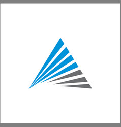 triangle logo abstract a initials line template vector image