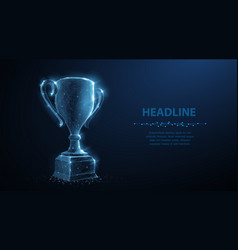 trophy cup abstract 3d trophy isolated on vector image