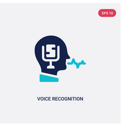 Two color voice recognition icon from artificial vector