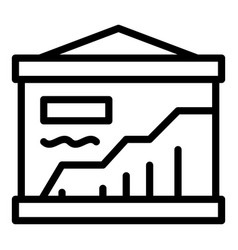 University analytics banner icon outline style vector