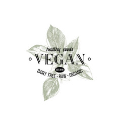 Vegan logo design vector