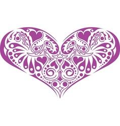Victorian floral heart vector