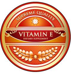 Vitamin e icon vector