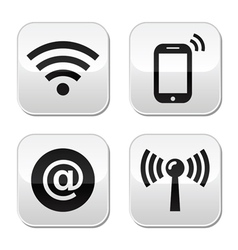 Wifi network internet zone buttons set vector image