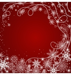 Winter background with snowflakes vector