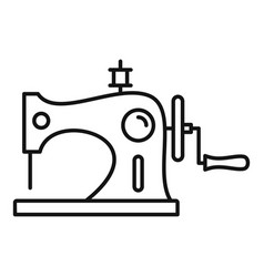 Wood sew machine icon outline style vector