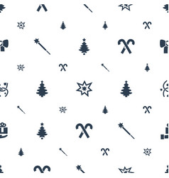 Xmas icons pattern seamless white background vector
