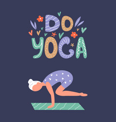 yoga girl in asana vector image