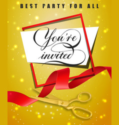 You are invited best party for all festive poster vector