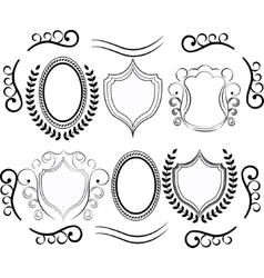 decorative design elements Set Of vector image