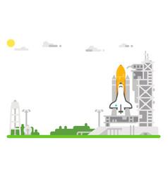 flat design shuttle launch site vector image